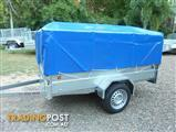 NO RUST TRAILERS.   Heavy duty PVC cover for 8 x 5 cage trailers.