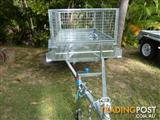 NO RUST TRAILERS.  7 x 4 Australian made, Hot-dip galvanized trailer with cage.