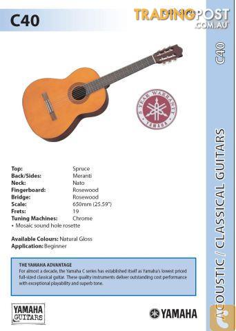 Yamaha Gigmaker Guitar C40 Pack Academy C Series Classical Acoustic