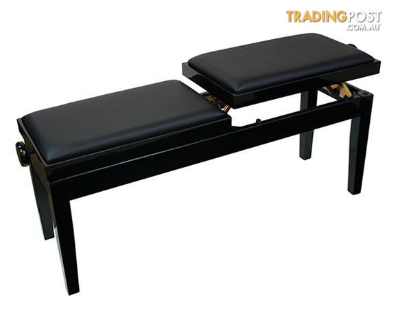 Piano Bench / ~ Piano Stool ~ DUAL ADJUSTABLE DUET PIANO BENCH - BLACK