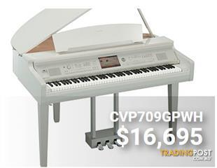 Yamaha Clavinova CVP709 White Polished Digital Grand Piano