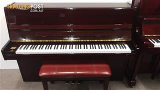 Alex Steinbach Student Upright Piano in Mahogany Polished.