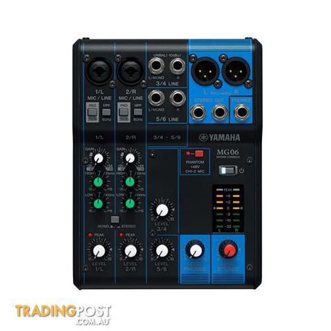 Yamaha MG06 6 Channel Mixing Console PA