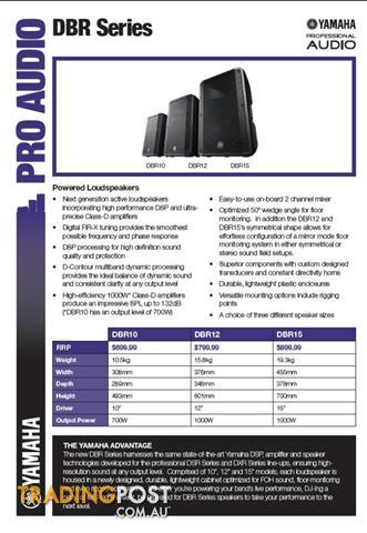 Yamaha DBR 12 Powered Loudspeaker PA - DBR12