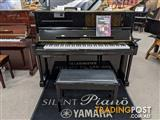 Yamaha U1 PEQ SILENT Upright Piano Polished Ebony