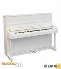 Yamaha Upright Piano White Polished U1J  121cm U1 series