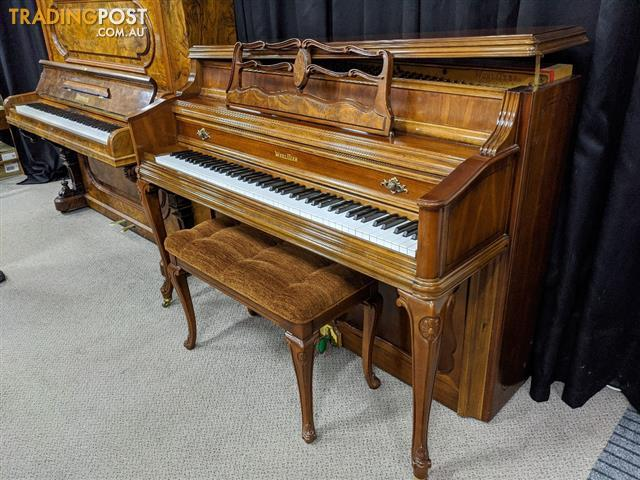 Sold ~ Wurlitzer ~ Upright French Provincial Console Piano with matching bench (1996)