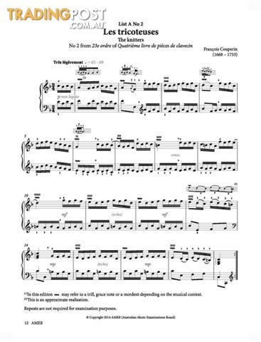 AMEB Piano Series 17 Grade Book - Grade 7