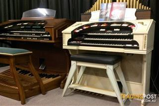 Conn Organ 580 Theatrette, Ivory & Gold Series II - NOW SOLD