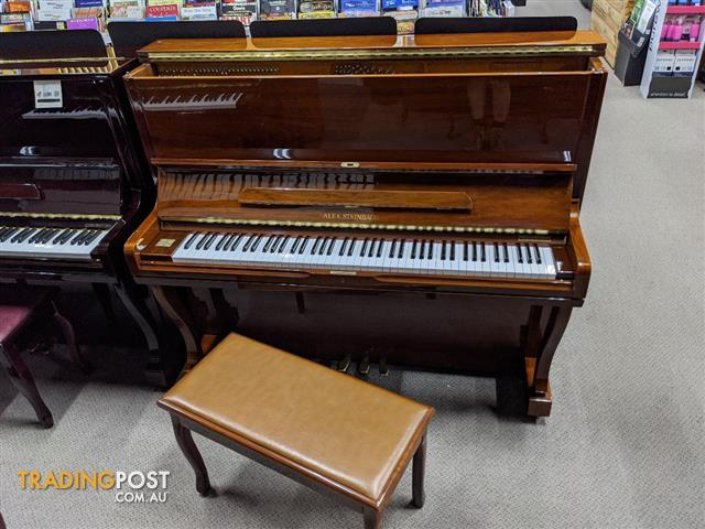 Alex Steinbach Professional,127cm Upright Piano in Walnut Polished ( 1997 Ser No IPH01427)