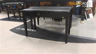 Yamaha No7PE Duet Piano Bench With Storage Polished Ebony (Black)