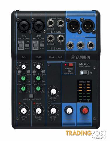 Yamaha MG06X 6 Channel Mixing Console PA