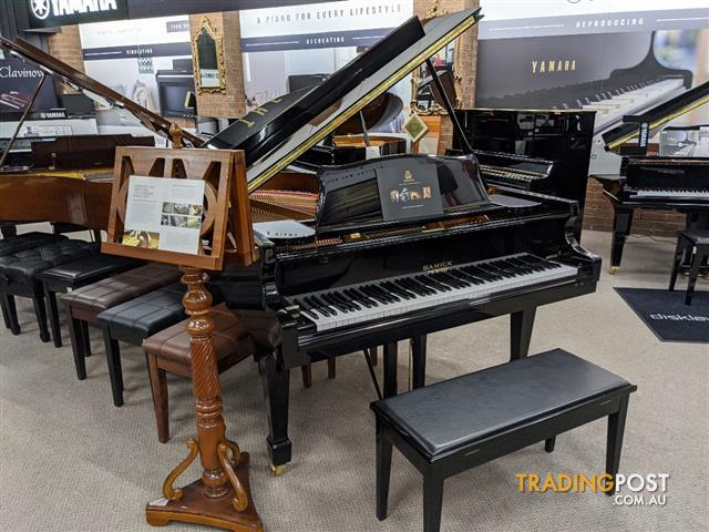 186cm Samick Grand Piano Ebony Polished NSG186