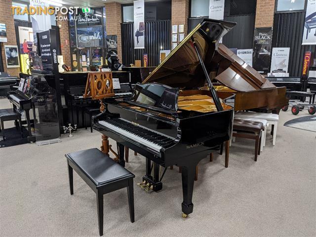 186cm Samick Grand Piano Ebony Polished NSG186