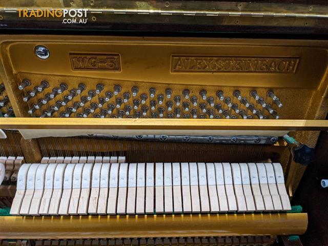 Alex Steinbach Upright Piano 121 cm WG-5 Dark Walnut Polished 1981 # 816648