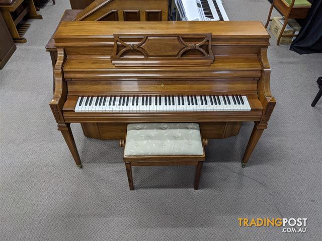 Steinway & Sons Hand-Crafted Walnut Satin Console Model F-40 1980