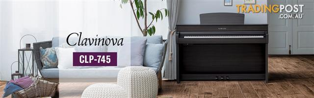 Yamaha Clavinova Digital Piano - CLP745 New in Polished Ebony