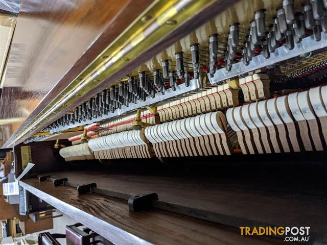 Steinway Upright Piano | Steinway & Sons Model K vertegrand upright piano with a Mahogany case