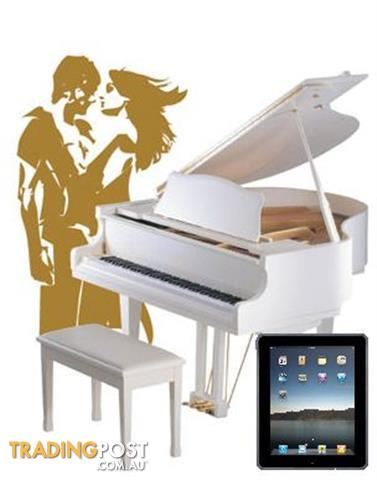 Alex Steinbach Regal  lifestyle iQ grand piano with iPad