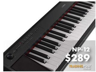 Yamaha Piaggero NP12 61-key piano-style keyboard
