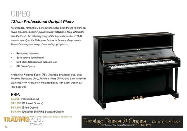 Yamaha 121cm upright piano u1peq new u1 series for sale in for Yamaha u1 professional upright piano