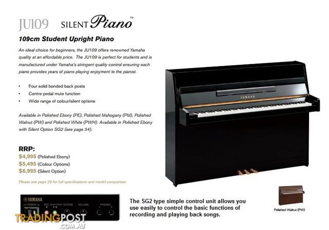 Yamaha Upright Piano JU109-Silent NEW 109cm