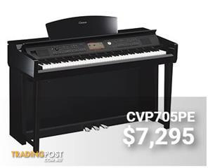 Yamaha Clavinova CVP705PE Polished Ebony Digital Piano