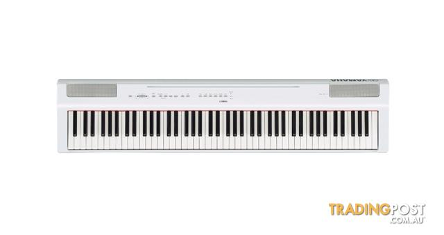 Yamaha P Series P-125WH White Portable Digital Piano