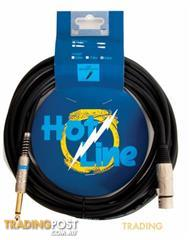 HOT LINE - 20' XLR TO JACK MICROHONE LEAD