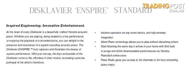 Yamaha Disklavier Enspire Baby Grand Piano GC1M Ebony Polished