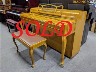 """Yamaha Spinet Piano """"Now SOLD"""" French Provincial 1977"""