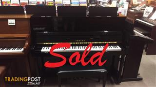Yamaha 121cm Upright Piano T121 in Polished Ebony ~ Now Sold ~