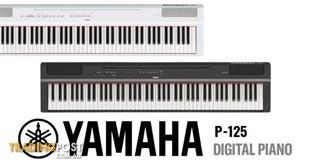 Yamaha P Series P125 Black Portable Digital Piano ~ Compact and stylish piano