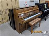 Alex Steinbach Student 105cm Upright Piano in Walnut Polished ( 1985 Ser No 615406)