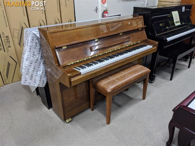 Alex Steinbach Student 105cm Upright Piano in Walnut Polished (Now Sold )