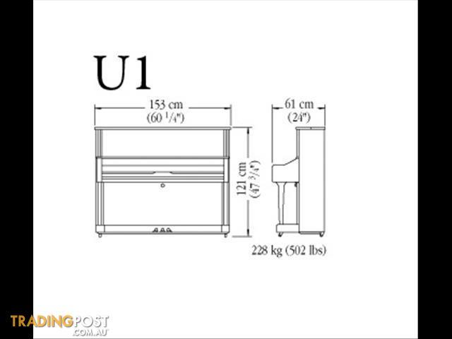 Yamaha Upright Piano U1J CP 121cm U1 series