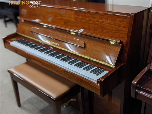 Alex Steinbach Upright Piano 108cm JS042 in Walnut Polish