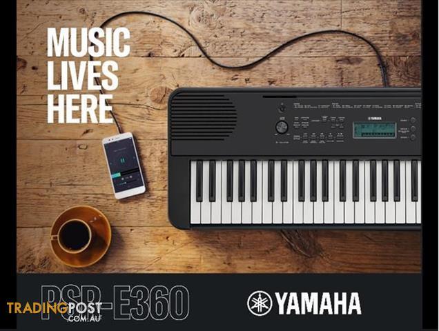 Yamaha E-Series PSR E360 Regular Series Yamaha PSRE360 Keyboard