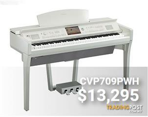 Yamaha Clavinova CVP709PWH Polished White Digital Piano