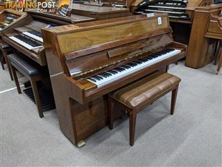 Alex Steinbach Student ~105cm Upright Piano in Walnut Polished ( 1981 Ser No 410881)