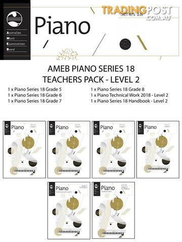 AMEB Piano Series 18 Teacher Pack Level 2 (Grade 5-8)