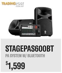 Yamaha Stagepas 600BT The Ultimate All-in-One Portable PA System