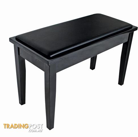 Piano Bench / ~ Polished Ebony Piano stool.