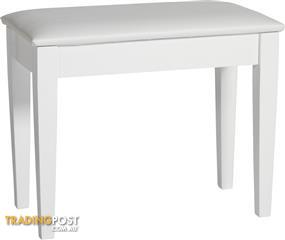 Piano Bench White