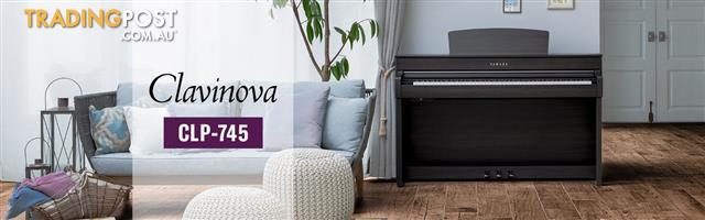 Yamaha Clavinova Digital Piano - CLP - 745 New - Black - Dark Rosewood - Dark Walnut - White -