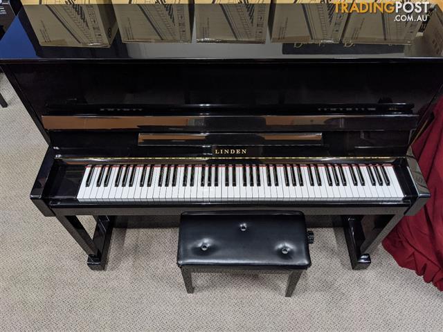 Linden K121 Upright Piano in Polished Ebony  by Kawai Ser No 10962