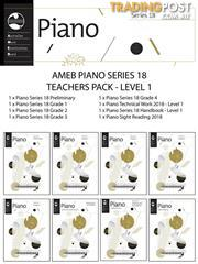 AMEB Piano Series 18 Teacher Pack Level 1 (Preliminary- Grade 4)