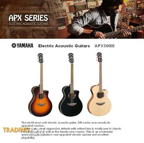 Yamaha Electric Acoustic Guitars Apx 500 Iii Series For