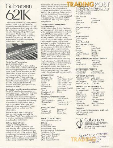 Gulbransen 600 Series theatre organ