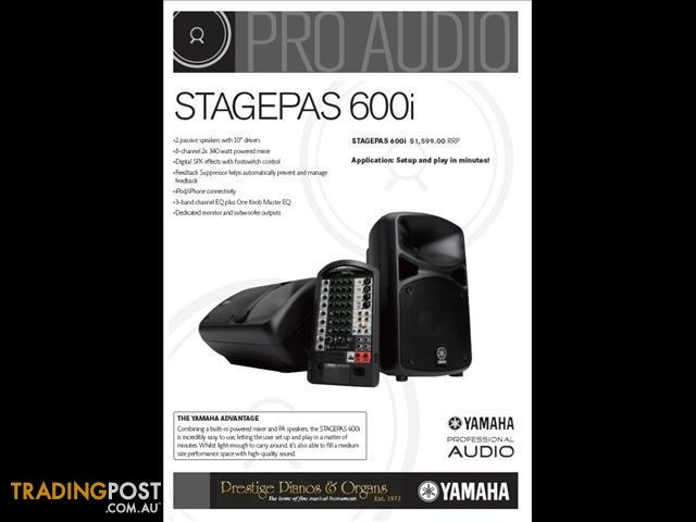 Yamaha Stagepas 600i  The Ultimate All-in-One Portable PA System